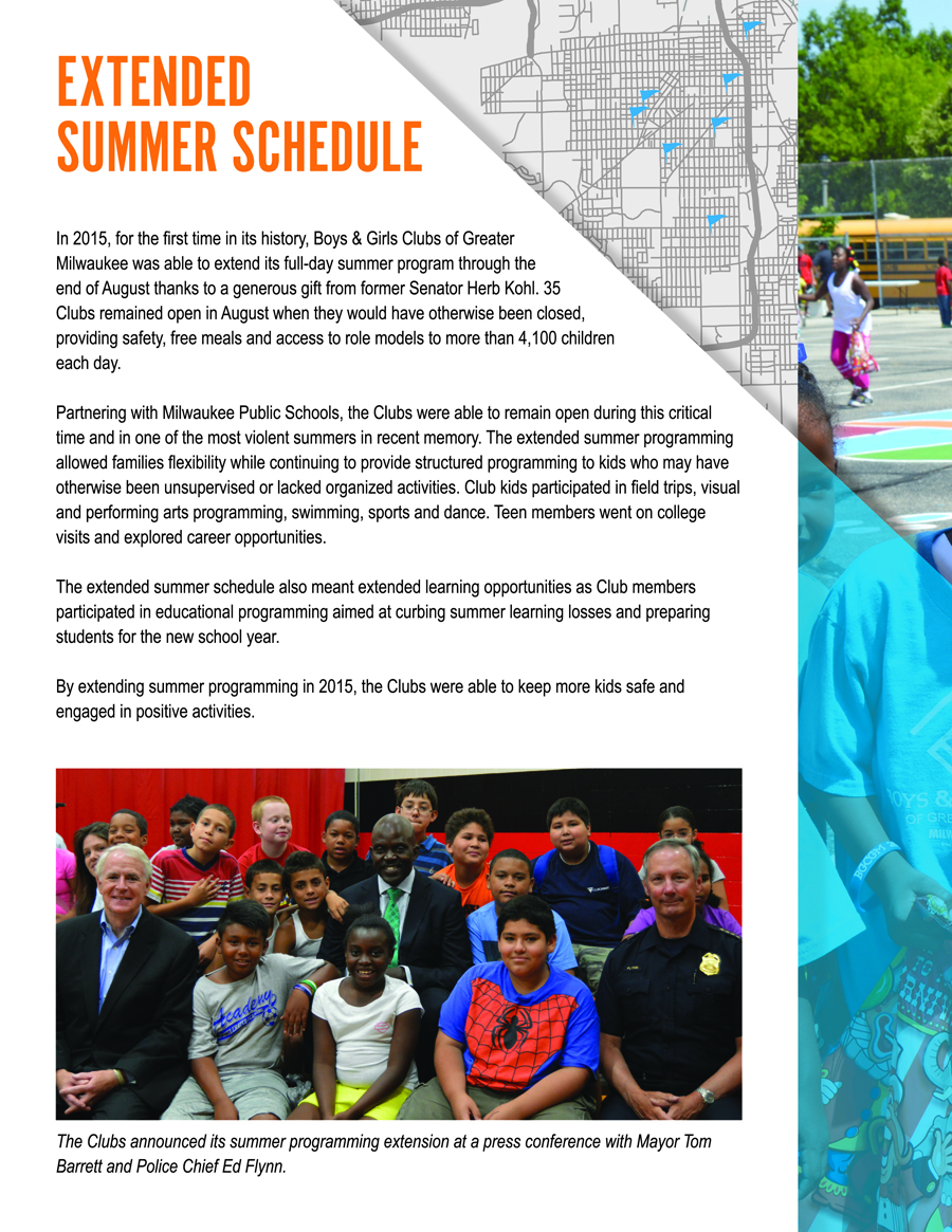 2015 Annual Report | Boys & Girls Clubs of Greater Milwaukee